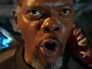 Samuel L Jackson in Deep Blue Sea