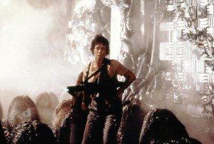 Ellen Ripley in egg chamber in Aliens