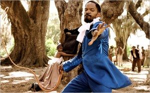 Django Unchained Jamie Fox whipping slavers