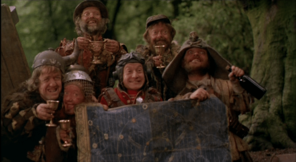 Time Bandits Posing with Map