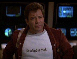 Star Trek V: The Final Frontier Kirk Climb a Rock