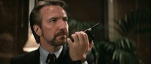 Alan Rickman oozing evil