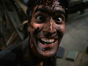Ash in Evil Dead II Bruce Campbell