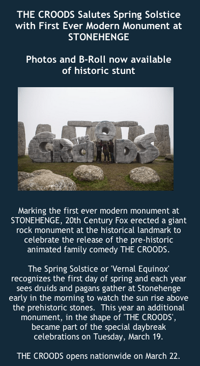 Croods Stonehenge
