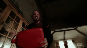 Jesse shows Walt how much he loves him