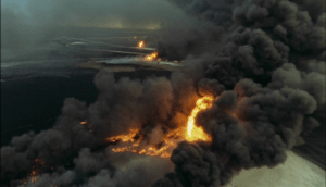 The alien planet on fire