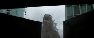 This is a BART service announcement. Elevators are out of service due to Godzilla.