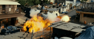 Fast Five The Rock explosion