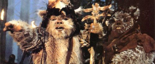 Jar Jar meets the Ewoks