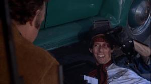 James Woods as the tough guy mechanic