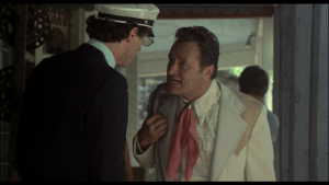 Never tell Dick Miller his guests are being eaten by fish