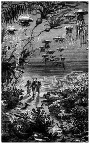 Leon Bennett's original drawing of the underwater pirates
