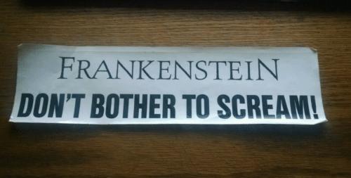 Frankenstein Don't Bother to Scream